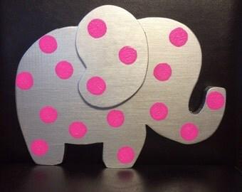 Wood Elephant Decor