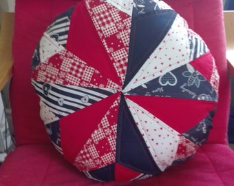 Round patchwork cushion cover