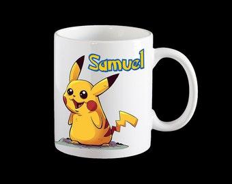 Pokemon Go Pikachu Personalised Mug, Pikachu kids cup, Pikachu personalised coffee mug, Pokemon go gift