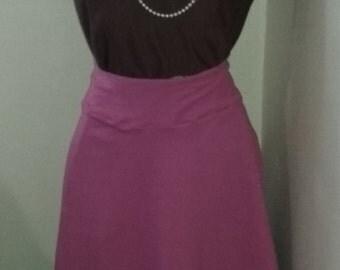 XL- Pink Midi Skirt