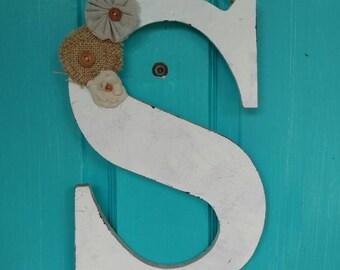 Front Door Hanger, Wooden Letter, Front Door Decor