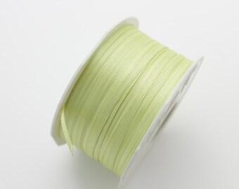 50mls of aniseed green satin ribbon