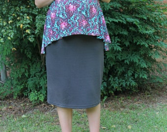 Charcoal Grey Maternity pencil skirt