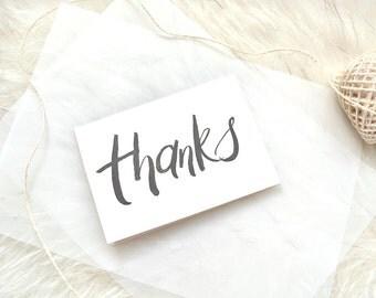 THANKS | Handwritten A6 Greeting card