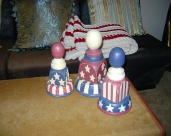 Fourth of July Finials Decor