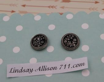 Black and slive earrings