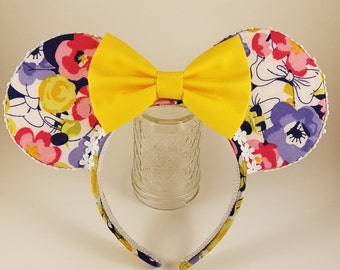 "Floral ""Lady Mouse"" Ears"