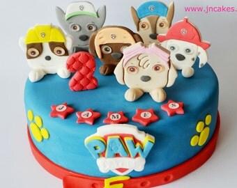 personalised edible cake decoration PAW PATROL cake toppers personalised edible birthday decoration