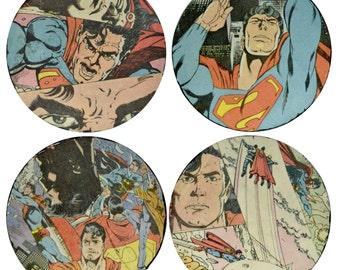 1988 Superman Comic Book Coasters