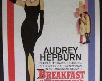 Breakfast at Tiffany's Reproduction 12'x18' Vintage Movie Poster // Audrey Hepburn // Truman Capote // 1960s // Holly Golightly // Bacon