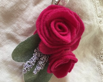 Ruby's Nature Made Flower Clip