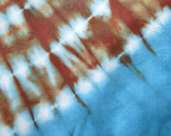 African Fabric Tie & Dye Blue Sky