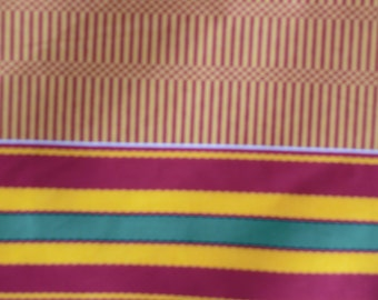 African Fabric Kente Tribal Stipes