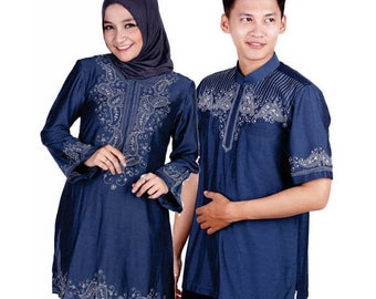 Gamis Couple and Clothing Materials Cotton Shiny