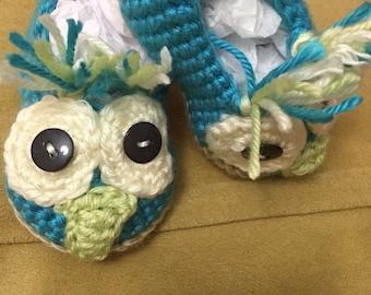 Owl booties
