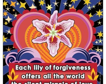 A Course In Miracles Coloring Book Page Each Lily of Forgiveness