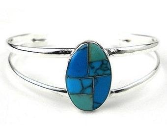 Turquoise Stone Mosaic Bracelet