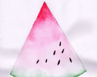 Watercolour Watermelon Painting Print