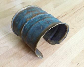 Blue Metal Cuff Bracelet