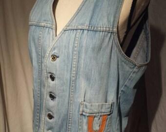 Vintage Western Style Sears Denim Vest