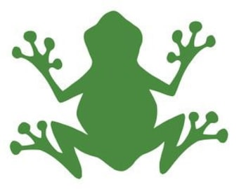 Tree Frog Wall Vinyl Decal 15X12