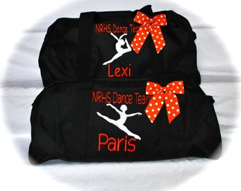Custom Embroidered Sports/Dance/Cheer Large Duffle Bag