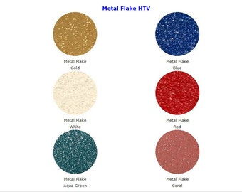 "Metal Flake HTV 12""x15"" Sheets"