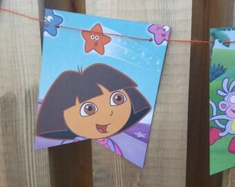 Dora the Explorer Story Book Banner