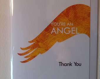 You're an Angel Thank You Card