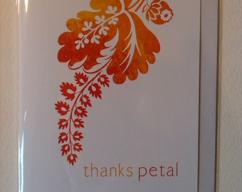 Thanks Petal - Thank You Card