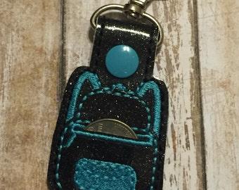Backpack Quarter  Keeper Keychain