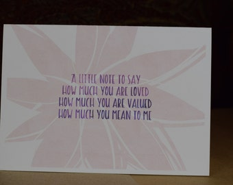 Greeting card - Handmade card, Friendship card, Encouragement Card, Just Because Card, Inspirational Card, Watercolour Card, Note Card