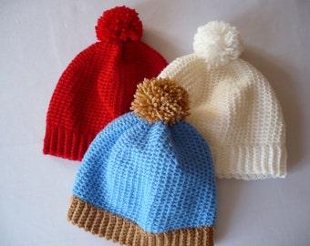 Kids hat - Crochet kids hat -Toddler hat - Baby hat- PomPom hat - Children beanie - Autumn hat