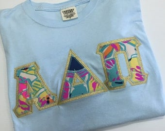 Long Sleeve Comfort Colors with Lilly letters