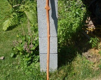 "Handmade red maple walking stick 47"" slim"