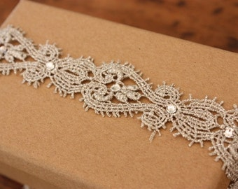 Elegant Lace Swarovski Bridal/Wedding Bridal Garter- Something blue. With or without ribbon