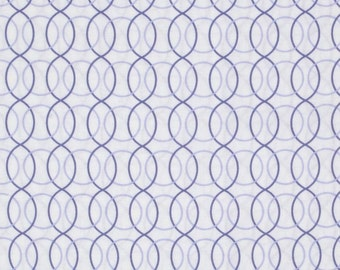 """Geometric Fabric: Monterey Circle Geo Periwinkle Blue 100% cotton fabric by the yard 36""""x43""""  (C227)"""