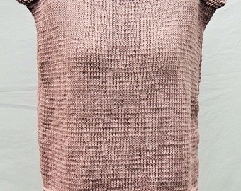"""cool """"square top Amanda"""" in mauve and coral red"""