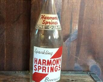 Sparkling Harmony Spring Beverages of Ludlow MA Quart Bottle