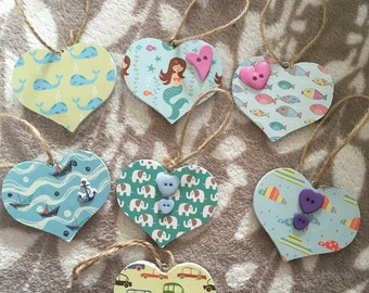 Baby/childrens heart plaques