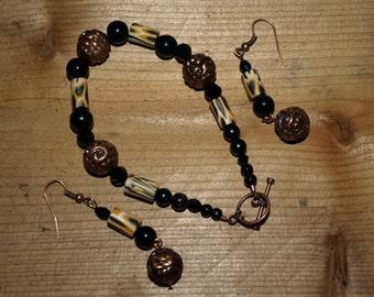Copper and Bones Bracelet
