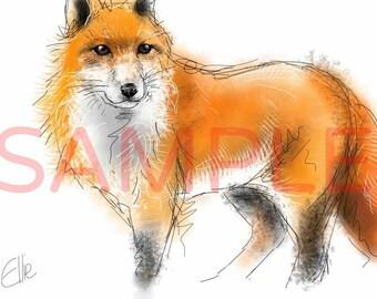 Fox - A3 print