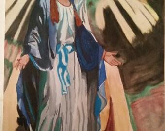 Original painting of La Virgen De Fatima