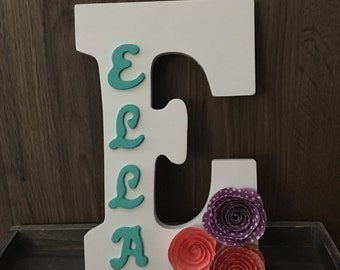 Wooden Intial PERSONALIZED with NAME perfect for any NURSERY!