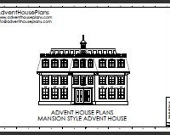 Christmas Advent House Plans
