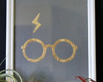 Genuine Hand-Foiled Metal Harry Potter Art