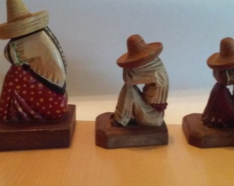 Mexican hand wood carvings