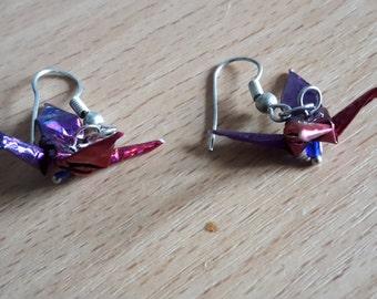 Crane earrings