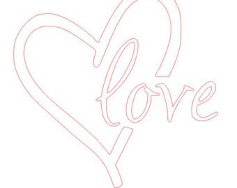 Love Heart Vinyl Decal