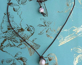 Freshwater Pearl Dangle Necklace